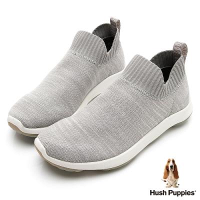 Hush Puppies Bounce Max 高效彈力休閒針織女便鞋-淺灰