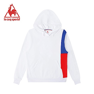 le coq sportif 法國公雞牌Solotex長袖連帽T恤 女-白