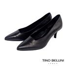 Tino Bellini義大利進口方形鞋口6cmOL跟鞋_黑