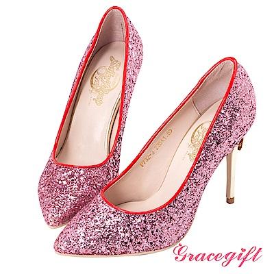Grace gift-美少女戰士變身器碎石高跟鞋 粉