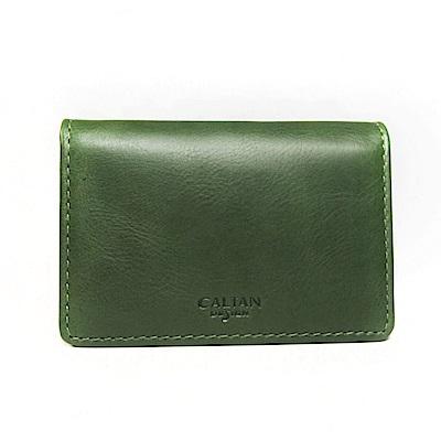 CALTAN-名片夾 卡片夾 卡夾 信用卡夾 男夾 女夾 -2125cd-綠