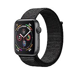 AppleWatch S4 GPS 40mm太空灰色鋁金屬錶殼搭配黑色運動型錶環
