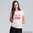 GIORDANO 女裝純棉熱愛旅行印花圓領T恤-13 薄紗粉紅