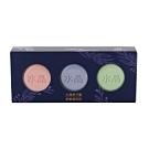 南僑水晶馬卡龍舒敏植萃皂-三入禮盒(薰衣+櫻花+綠茶)