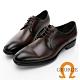 GEORGE喬治皮鞋 輕量系列 漸層刷色真皮綁帶氣墊鞋 -咖啡 115002BW product thumbnail 1