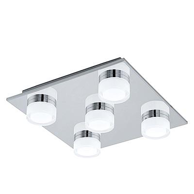 EGLO歐風燈飾 現代風五燈式方型吸頂燈
