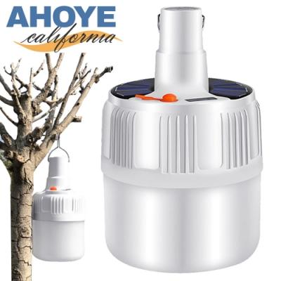 AHOYE 24LED充電式露營燈80W 緊急照明 手電筒 充電燈泡 擺攤