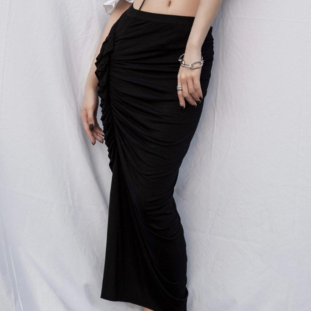 設計所在Style-性感仙女彈力包臀中長裙小黑裙