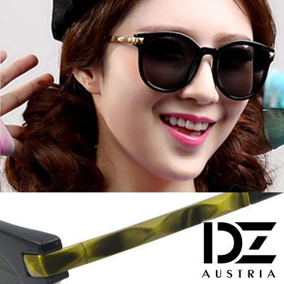 DZ 菱光波璇架 防曬太陽眼鏡造型墨鏡(亮黑框灰片)