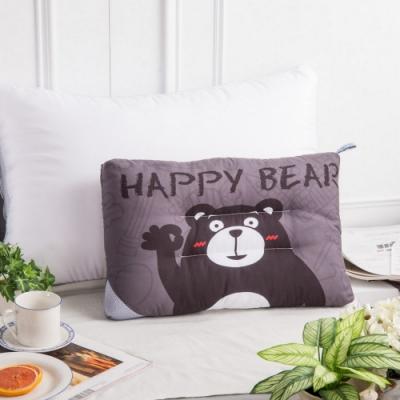 夢工場 快樂熊天絲兒童水洗枕