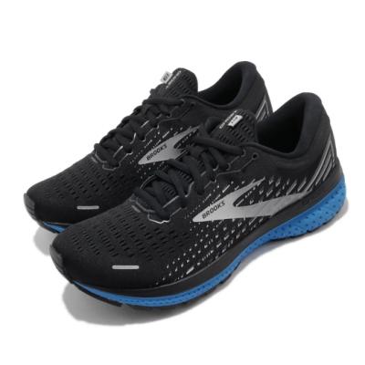 Brooks 慢跑鞋 Ghost 13 運動 男鞋 路跑 緩震 DNA科技 透氣 健身 黑 藍 1103481D018