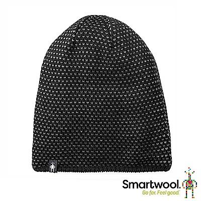 SmartWool 鑽紋毛呢軟帽 黑色
