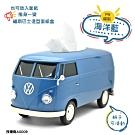 福斯 T1 Bus 復古經典面紙盒 Welly原廠授權 新版 汽車造型面紙盒 藍色