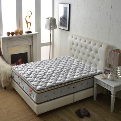 雙人加大6尺 厚三線護腰型-乳膠抗菌+竹碳紗防潑水-硬式獨立筒床墊 Ally愛麗