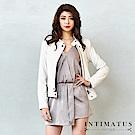 INTIMATUS 真皮 簡約風格立領頂級小羊皮皮衣 氣質米白