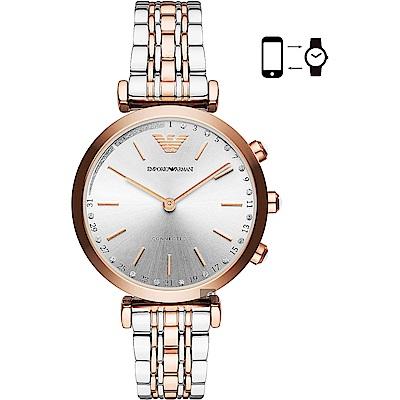 Emporio Armani Connected 指針式智慧錶-銀x雙色