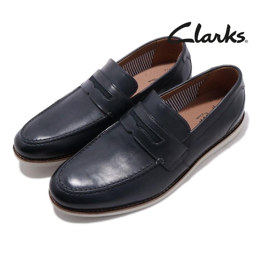 Clarks 休閒鞋 Raharto Way 真皮 皮革 男鞋