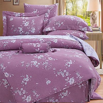 Saint Rose 莉薇特 加大100%純天絲全鋪棉床包兩用被套四件組