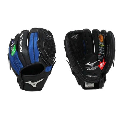 MIZUNO 少年用手套-右投-棒球 壘球 美津濃 312795-R 黑藍銀