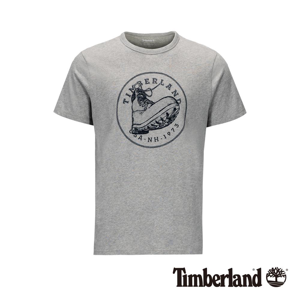 Timberland 男款中麻灰美式風格靴子寬版短袖T恤 A21AJ