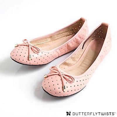 BUTTERFLY TWISTS-GRACE可折疊扭轉芭蕾舞鞋(淡粉紅)