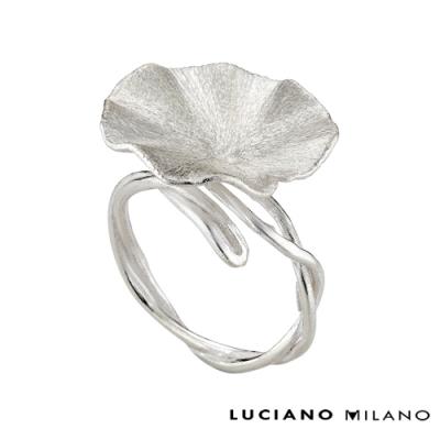 LUCIANO MILANO 浪漫微春輕盈純銀戒指