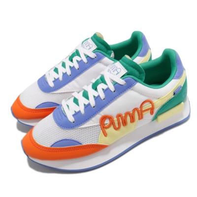 Puma 休閒鞋 Future Rider 塗鴉先生 男女鞋 Mr Doodle 撞色 穿搭 街頭風 白 多色 37579001