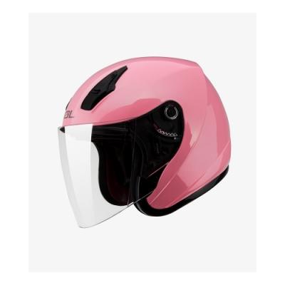 【SOL】SO-8 素色 草莓粉(亮面) 3/4罩(安全帽│半罩│小頭款│GOGORO)