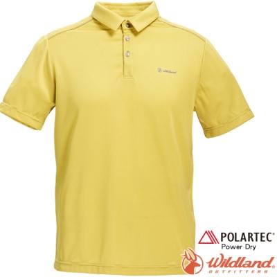 Wildland 荒野 P1602-34檸檬黃 男POLARTEC功能上衣
