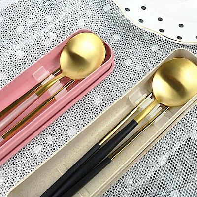 Caldo卡朵生活 小奢華隨身不鏽鋼餐具2件組(附盒)(快)
