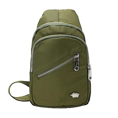 DRAKA 達卡 - 防潑水多層圓弧單肩斜背胸包-綠
