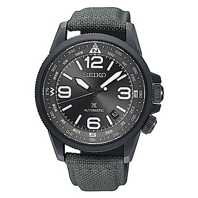 SEIKO精工/PROSPEX 軍事風格時尚機械錶-灰/4R35-02N0N(SRPC29
