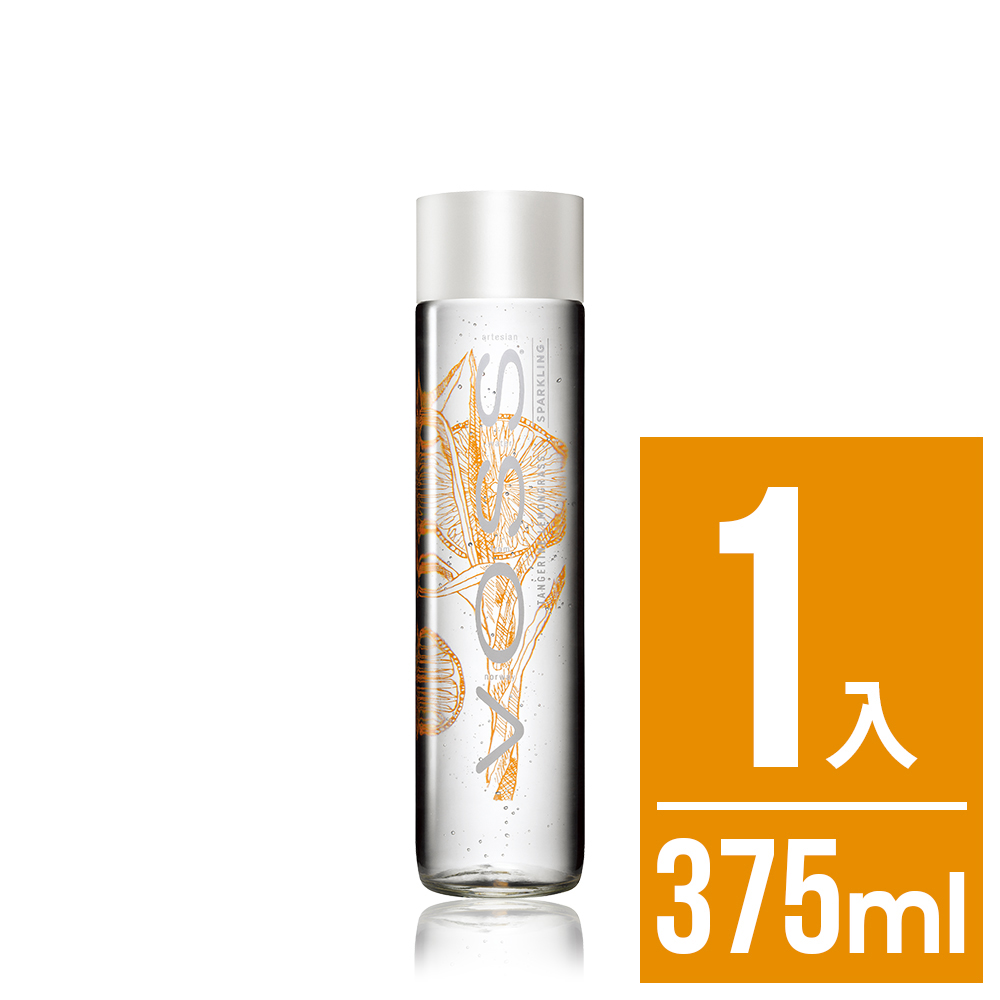 VOSS芙絲 挪威柑橘檸檬草風味氣泡礦泉水(375ml)