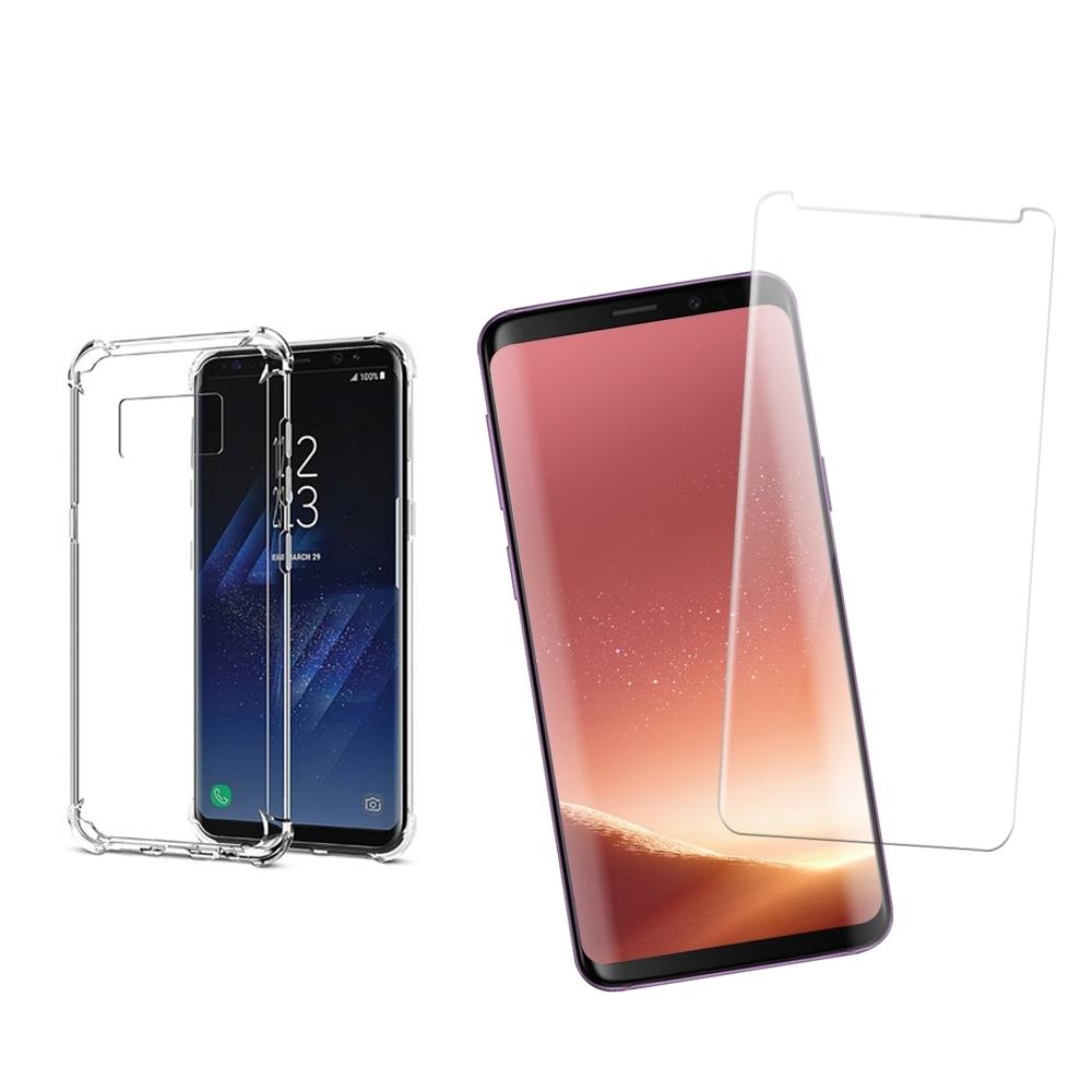 [買保護貼送手機殼] 三星 S8 Plus S8+ 全膠 曲面 高清透明 手機 保護貼 (三星S8Plus保護貼 三星S8Plus鋼化膜 )