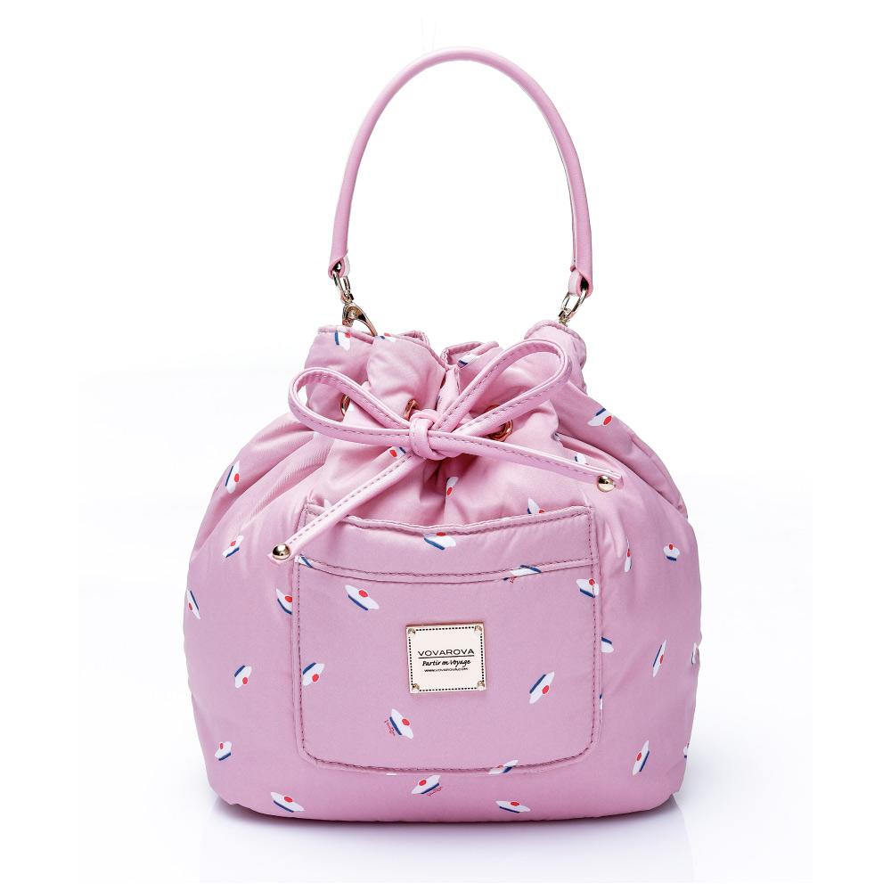 VOVAROVA空氣包-口袋水桶包-French Pom Pom(Pink)