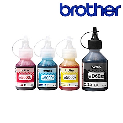 Brother BTD60BK+BT5000CMY 原廠四色墨水