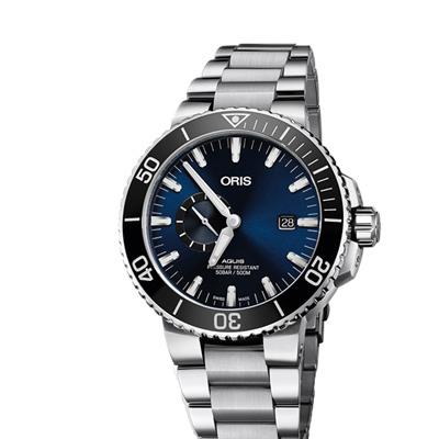 ORIS  豪利時 Aquis 500米潛水機械錶x藍x銀x45.5mm