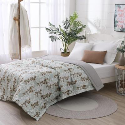 LAMINA 精梳棉涼被4.5X6.5尺-自然葉風(綠)