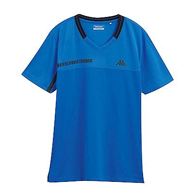 KAPPA義大利 型男KOOL DRY吸濕排汗衫 合身版 義大利藍 黑