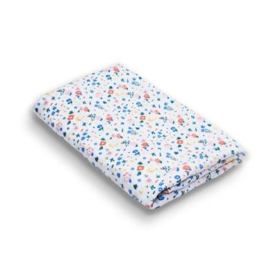 【台灣 Organic B 有機比比】嬰兒有機棉紗包巾-繽紛花漫漫