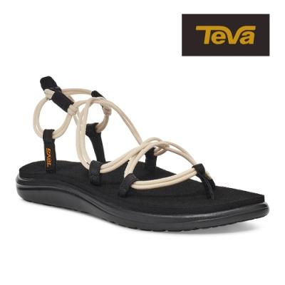 【TEVA】原廠貨 女 Voya Infinity 羅馬織帶涼鞋/雨鞋/水鞋(天鵝白-TV1019622WSW)