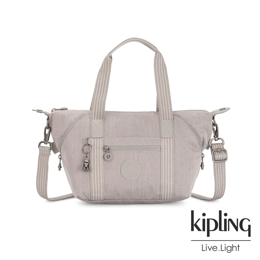 Kipling 溫柔燕麥色手提側背包-ART MINI