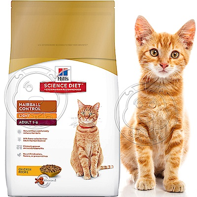 年終超殺Hills希爾思-成貓化毛體重控制低卡雞肉配方-7.03kg15.5磅/包