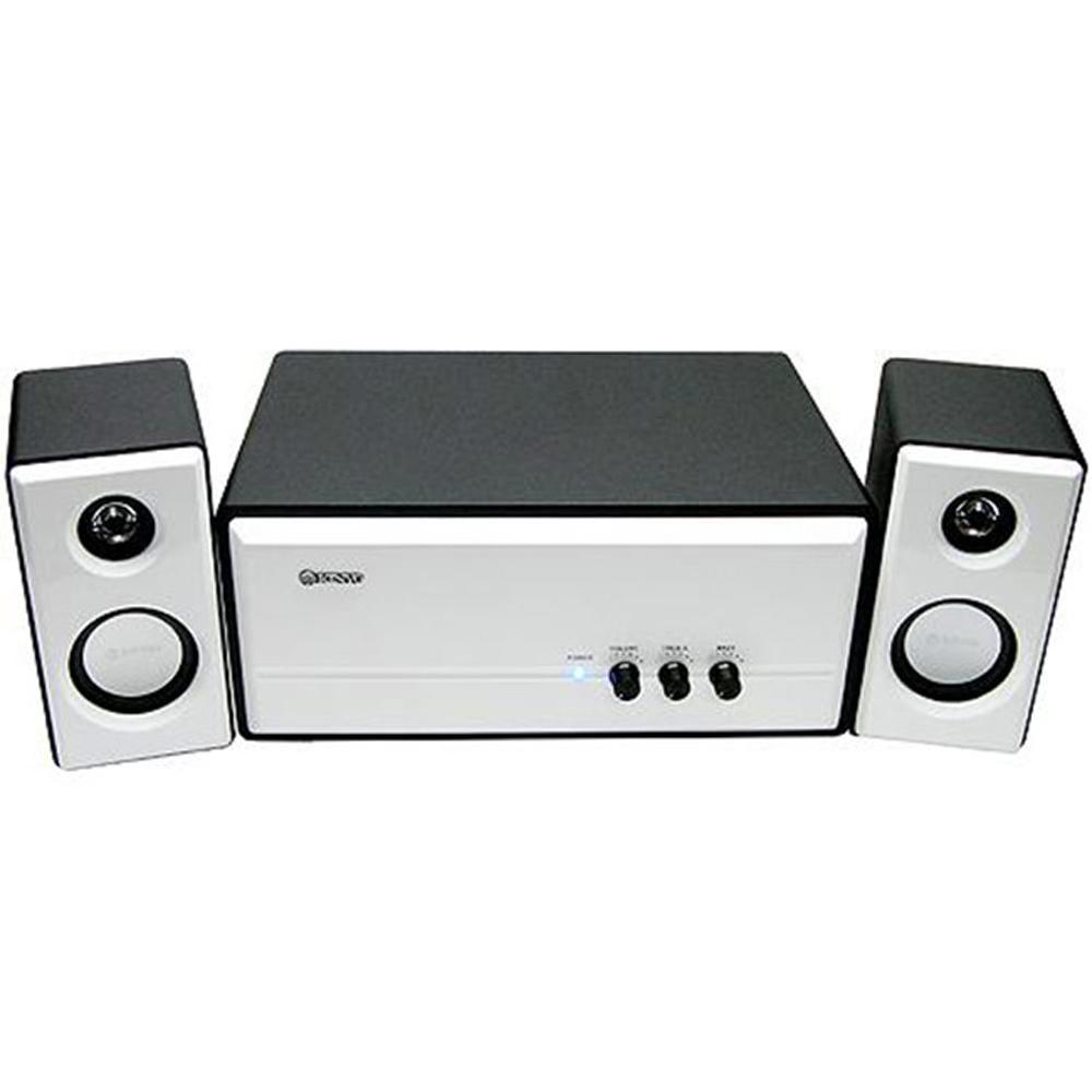 KINYO 全木質鋼琴烤漆2.1聲道擴大喇叭(KY-670)低音強勁