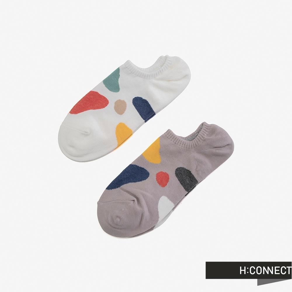 H:CONNECT 韓國品牌 配件 -不規則色塊短襪組