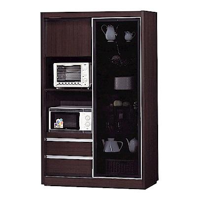 品家居 薇多恩4尺推門高餐櫃(二色可選)-120x52x200cm免組