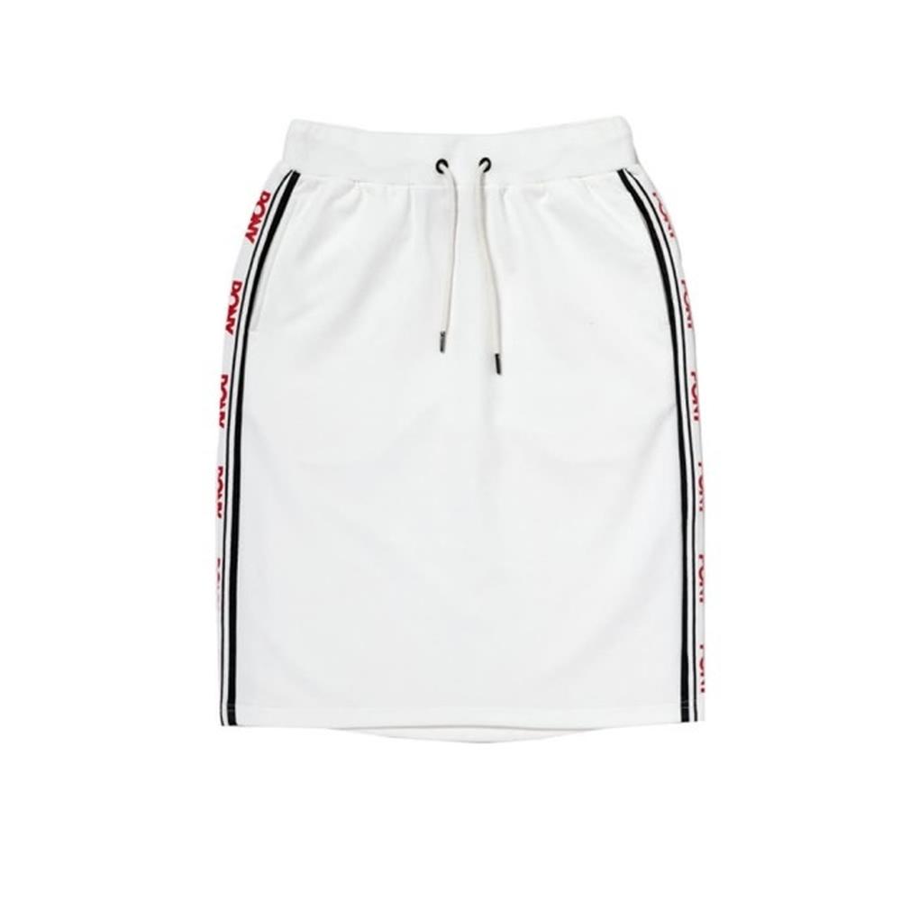 【PONY】修身彈性裙 女 兩色 黑 白 product image 1