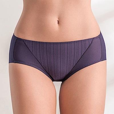 黛安芬-風格自在系列中腰平口內褲 M-EEL 絕美紫