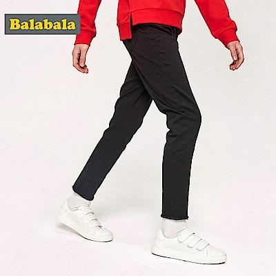 Balabala巴拉巴拉-鬚鬚褲角造型窄管褲-女(3色)