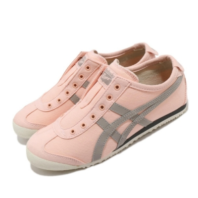 Onitsuka Tiger 休閒鞋 Mexico 66 Slip-On 女鞋 OT 鬼塚虎 帆布 無鞋帶 穿搭 粉 灰 1183A360701